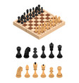 chess and parts isometric view vector image