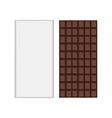 chocolate bar packaging mockup vector image