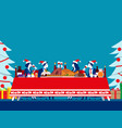 christmas dinner party concept business vector image vector image