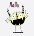creative ideascartoon animals the cute monster vector image