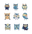 Cute hand drawn owl vector image vector image