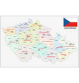 czech republic administrative and political map vector image vector image