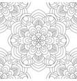 doodles mandala seamless pattern vector image vector image
