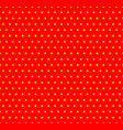 dotted yellow and red pop art pattern seamlessly vector image vector image