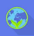 eco natural global icon flat style vector image