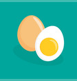 eggs flat icon vector image vector image