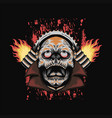 fire skull speed automotive vector image