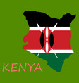 flag map of kenya vector image vector image
