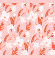 floral mixed media seamless pattern botanical vector image