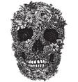 Flower Skull Linework vector image vector image