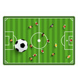 football - soccer top view field with players and vector image vector image