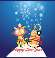 funny cats in new year vector image vector image