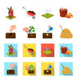 garden ecology farmingand other web icon in vector image