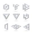 Geometric optical symbols vector image vector image