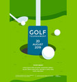 golf tournament poster design template sport flyer vector image