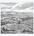 graphical landscape vector image vector image