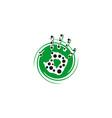 hand circle logo vector image vector image