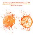 Hand drawn watercolor lemons vector image