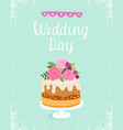 happy wedding day vector image vector image