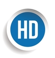 HD button - High Definition vector image vector image