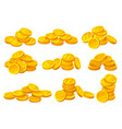 heaps of shiny golden coins money or financial vector image vector image