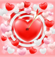 heart shooted a bow arrow vector image vector image