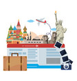 landmark and travel icon set design vector image vector image