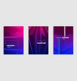 line art minimalistic modern brochures set design vector image