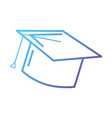line cap graduation object design vector image vector image