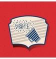 Megaphone of vote inside frame design vector image vector image