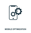 mobile optimization icon line style icon design vector image