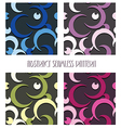 moons seamless patterns vector image vector image