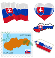 national colours of Slovakia vector image vector image
