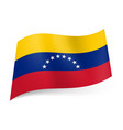 national flag of venezuela yellow blue and red vector image vector image