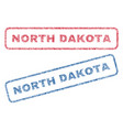 north dakota textile stamps vector image vector image