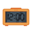 orange digital table alarm clock modern vector image vector image
