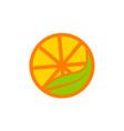 orange logo design template vector image vector image