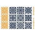 Ornamental floral pattern border elements vector image
