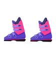 pair of skiing snowboarding boots winter sport vector image