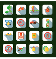 Pesticides Square Icons Set vector image vector image