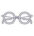 purple line contour of glasses icon vector image vector image