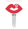 romance movies festival minimal poster design vector image vector image