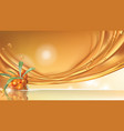 sea buckthorn realistic banner ad vector image vector image