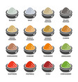 seasoning icon set vector image