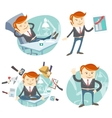 Set of hipster officeman lazy worker foot o vector image vector image