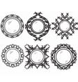 Set of Vintage Retro Round frames vector image vector image