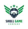 skull game logo design vector image vector image