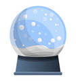 snowglobe icon cartoon style vector image vector image