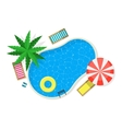 Swimming Pool for Card or Poster vector image vector image