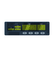 taximeter device calculating equipment for vector image vector image